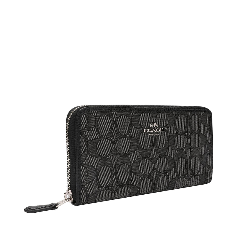 [CLEARANCE] - Accordion Zip Wallet in Signature Jacquard
