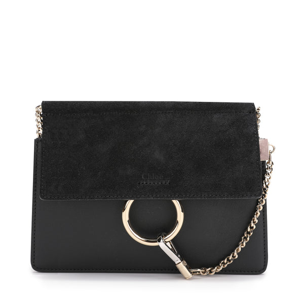 Mini Faye Suede & Leather Crossbody Bag