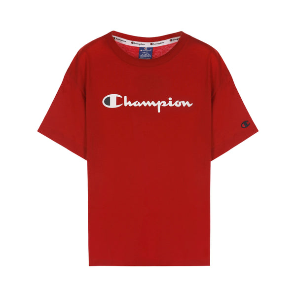 Champion Script Logo Print Drop Shoulder T-Shirt