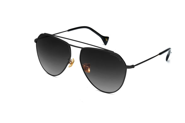DIVINE Black Aviator Sunglasses