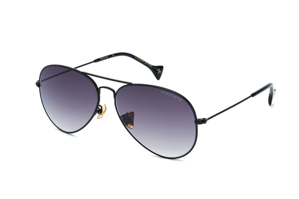 ETERNITY Black Aviator Sunglasses