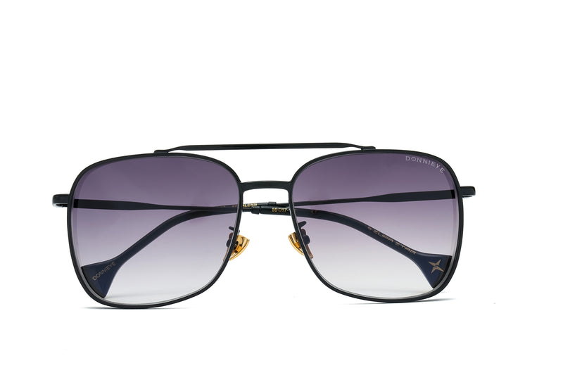 FEARLESS Black Aviator Sunglasses