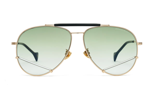 OPTIMIST Gold Aviator Sunglasses