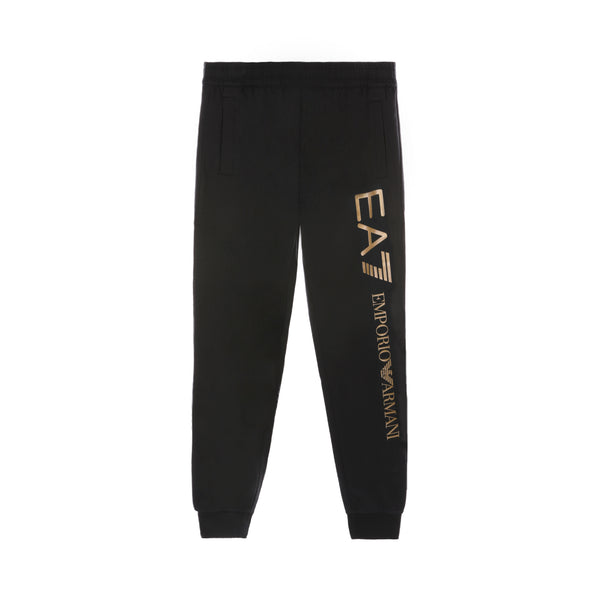 EA7 Print Cotton Track Pants