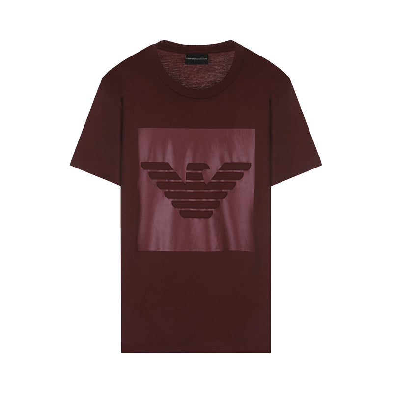 Emporio Armani Cotton interlock jersey T-shirt with eagle print
