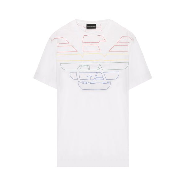 [CLEARANCE] - Rainbow eagle logo printed T-shirt