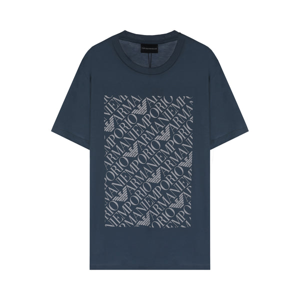 Emporio Armani Repeated Logo Print T-shirt