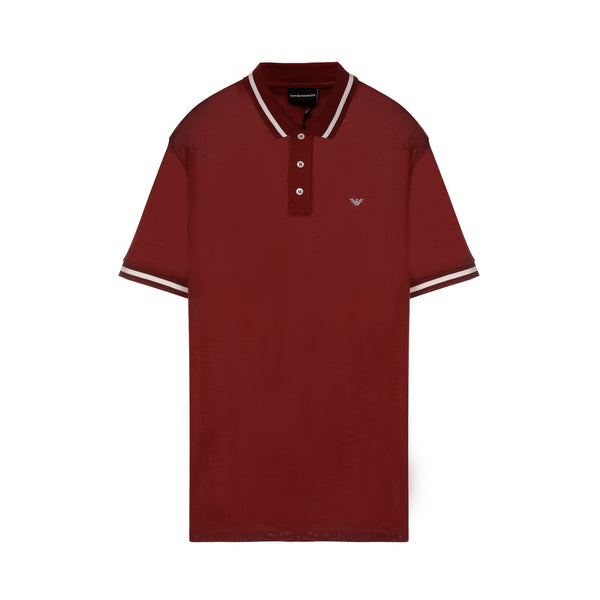 Embroidered Eagle Logo Polo Shirt