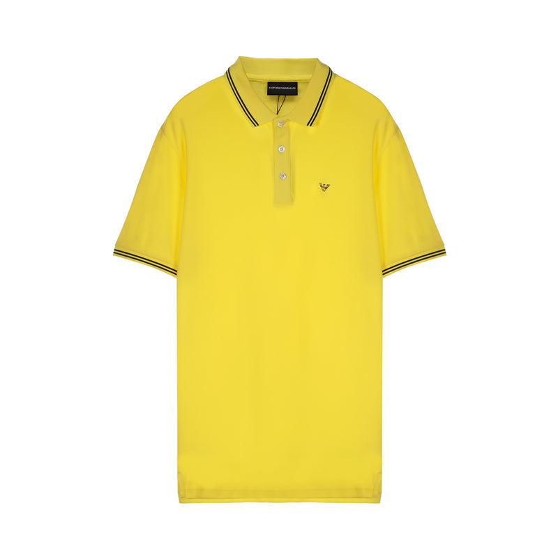 Emporio Armani Double striped eagle logo polo shirt