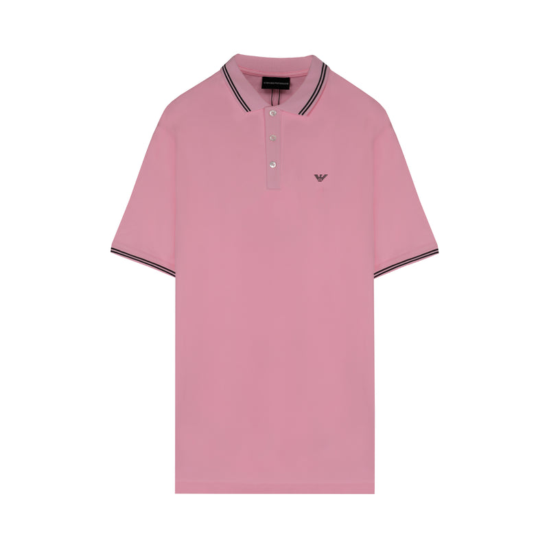 [CLEARANCE] - Double striped eagle logo polo shirt
