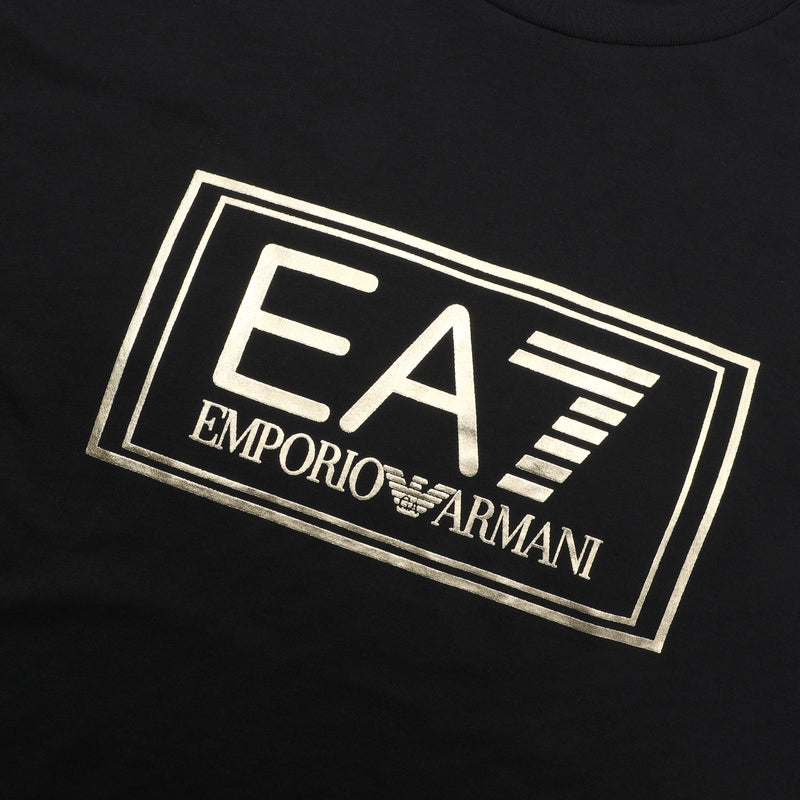EA7 Gold Metallic logo T-Shirts