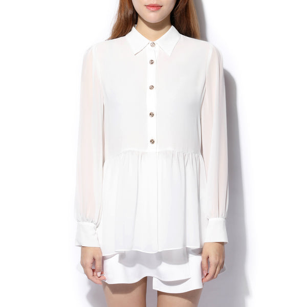 [CLEARANCE] - Drape Detail Blouse