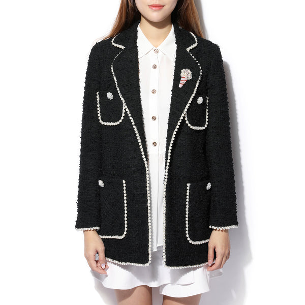 Black Pearl Tweed Jacket
