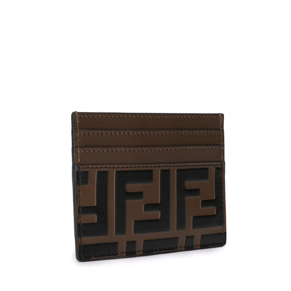 FF motif leather cardholder