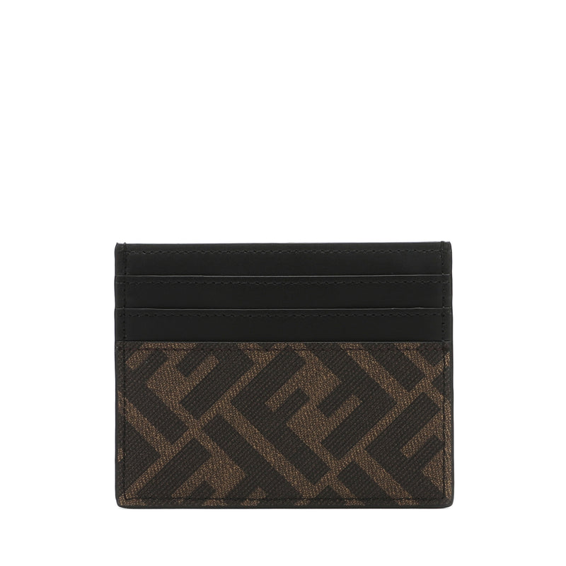 Fendi Brown Fabric Cardholder