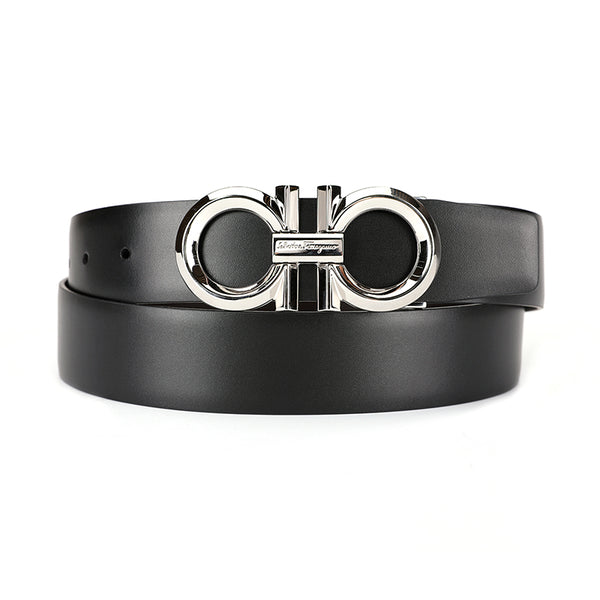 [CLEARANCE] - Reversible Gancini Buckle Leather Belt (Without box)