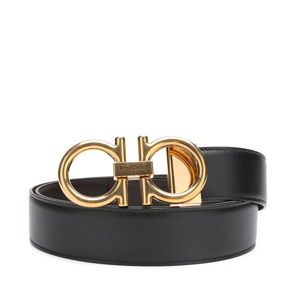 Salvatore Ferragamo Adjustable and Reversible Gancini Belt