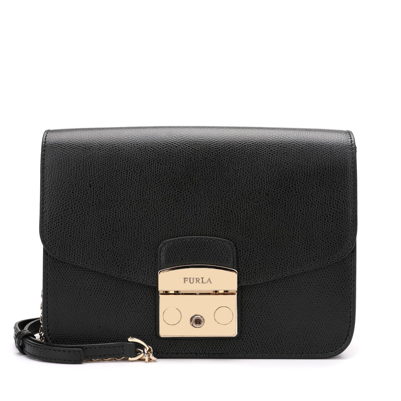 [CLEARANCE] - Metropolis Crossbody Bag S in Textured Leather