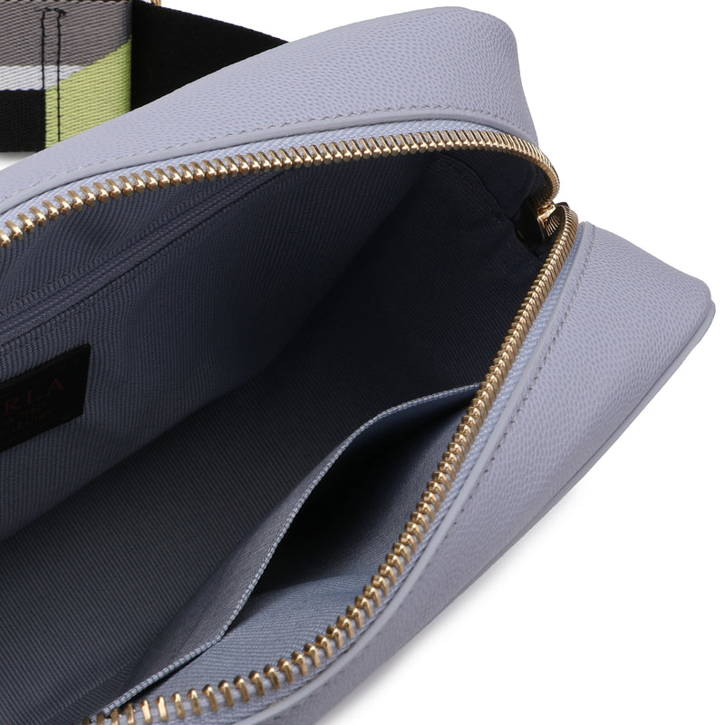 [CLEARANCE] - Brava Crossbody Bag S in Textured Leather with Colour Block Ribbon Shoulder Strap