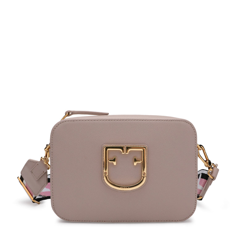 Furla Brava Mini Crossbody Bag with Logo Ribbon Fabric Shoulder Strap