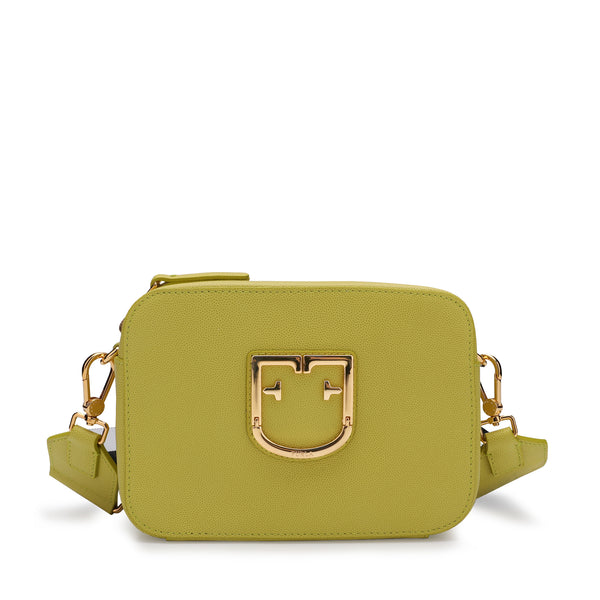 Furla Brava Mini Crossbody Bag with Bicolor Ribbon Fabric Shoulder Strap