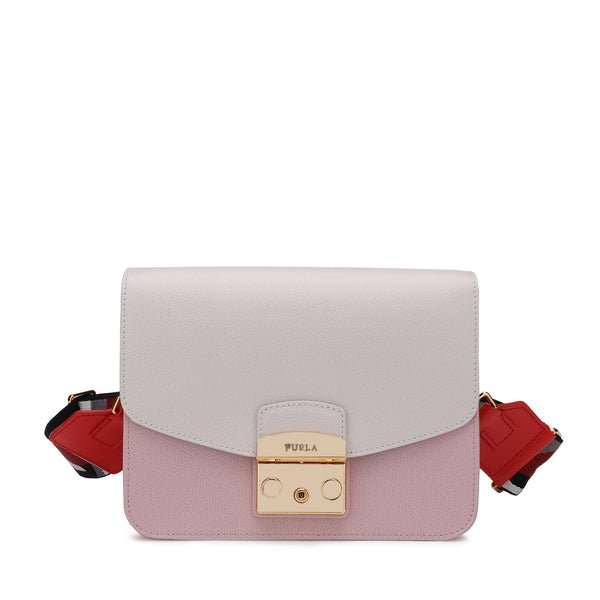 Furla Metropolis Brava Crossbody SFurla Metropolis Brava Crossbody S with Logo Ribbon Fabric Shoulder Strap