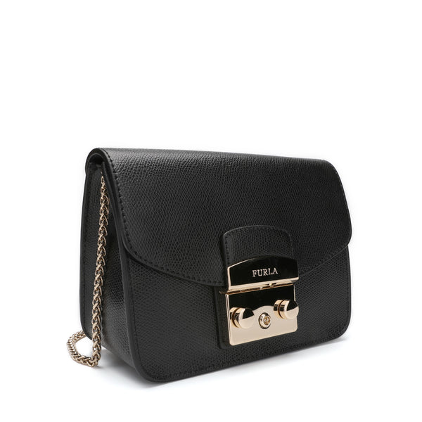 [CLEARANCE] - Metropolis Mini Crossbody Bag in Textured Leather