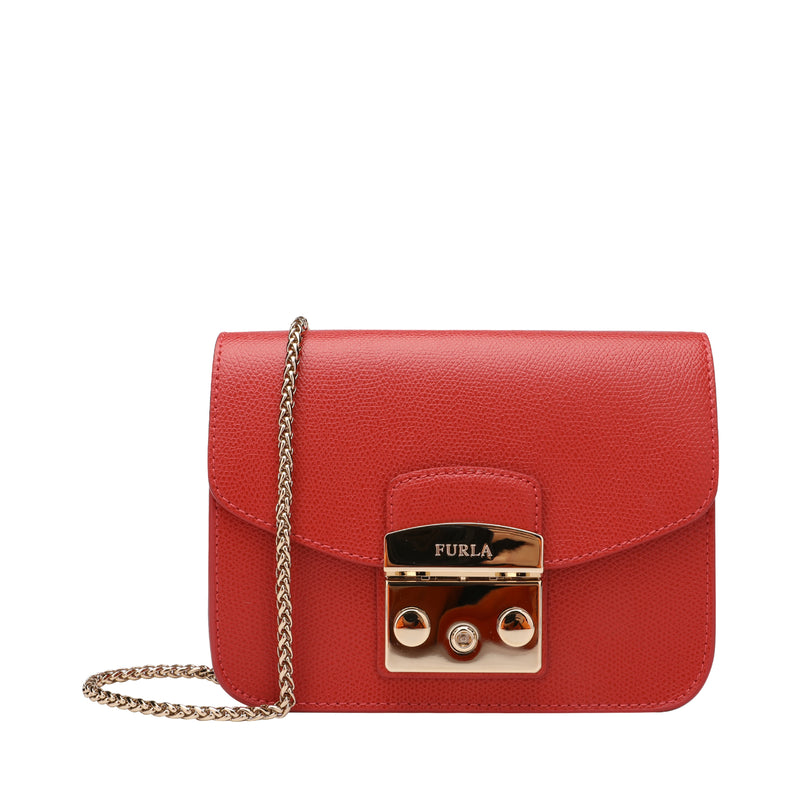 Furla Metropolis Mini Crossbody Bag in Textured Leather