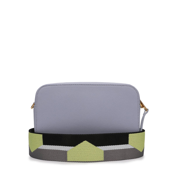 [CLEARANCE] - Brava Mini Crossbody Bag in Textured Leather with Colour Block Ribbon Shoulder Strap