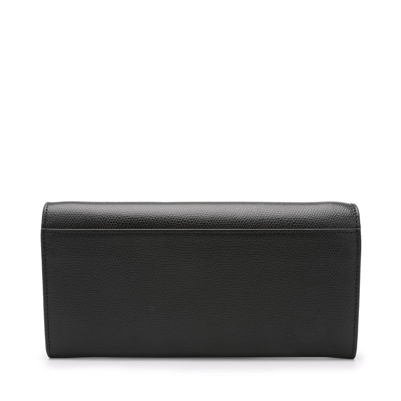 [CLEARANCE] - Metropolis Chain Wallet in Textured Leather