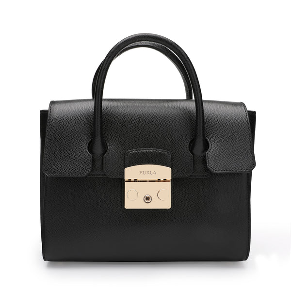 Furla Metropolis Satchel S in Textured Leather