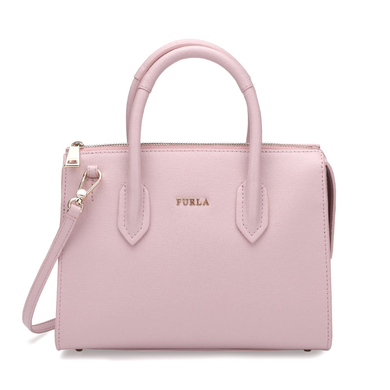 Furla Pin Satchel S in Textured Leather