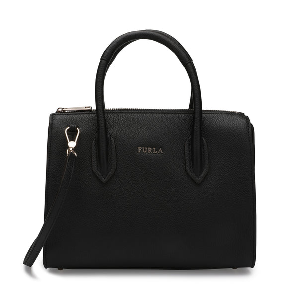 Furla Pin Satchel S in Grainy Leather