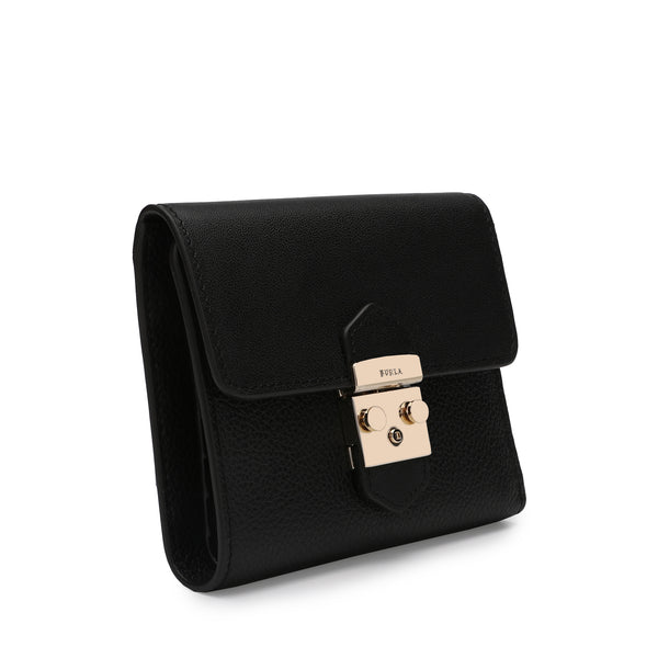 Furla Metropolis Bi-Fold S in Grainy Leather and Smooth Leather