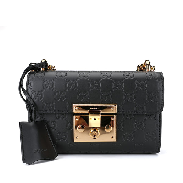 [Gift Box] Padlock Gucci Small Signature Shoulder Bag