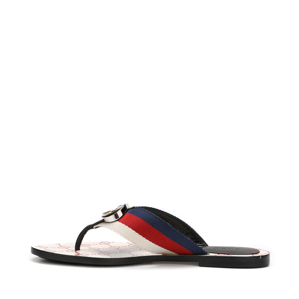 Web Stripe GG Leather Sandals