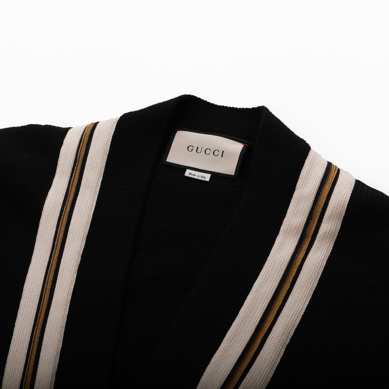 Gucci Wool Cardigan with Bee Applique