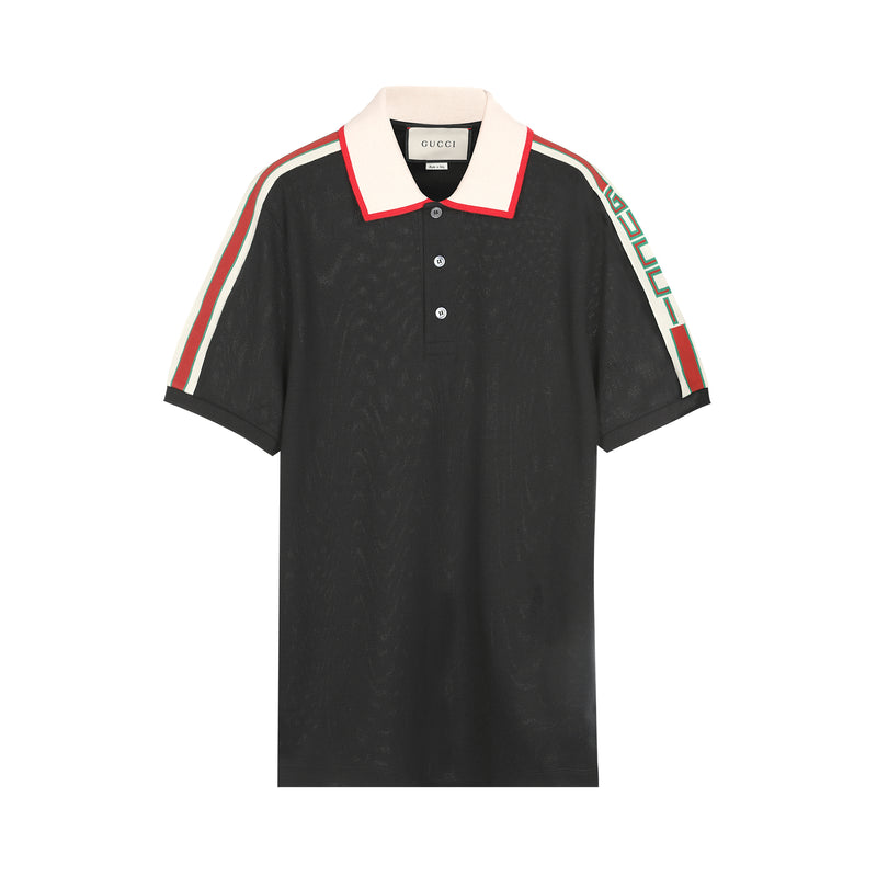[CLEARANCE] - Contrast Color S/S Knitted Polo