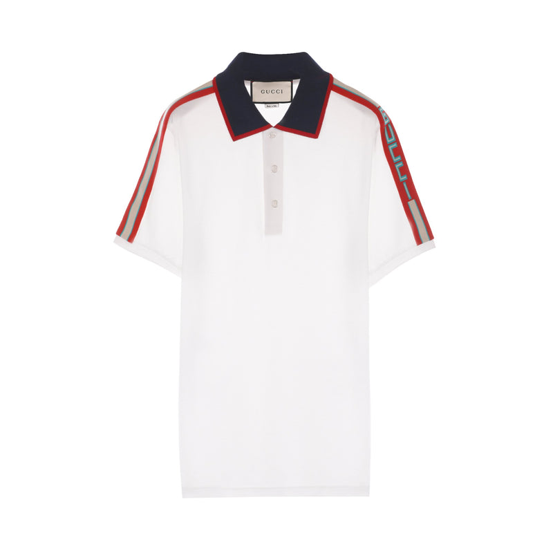 Contrast Color S/S Knitted Polo