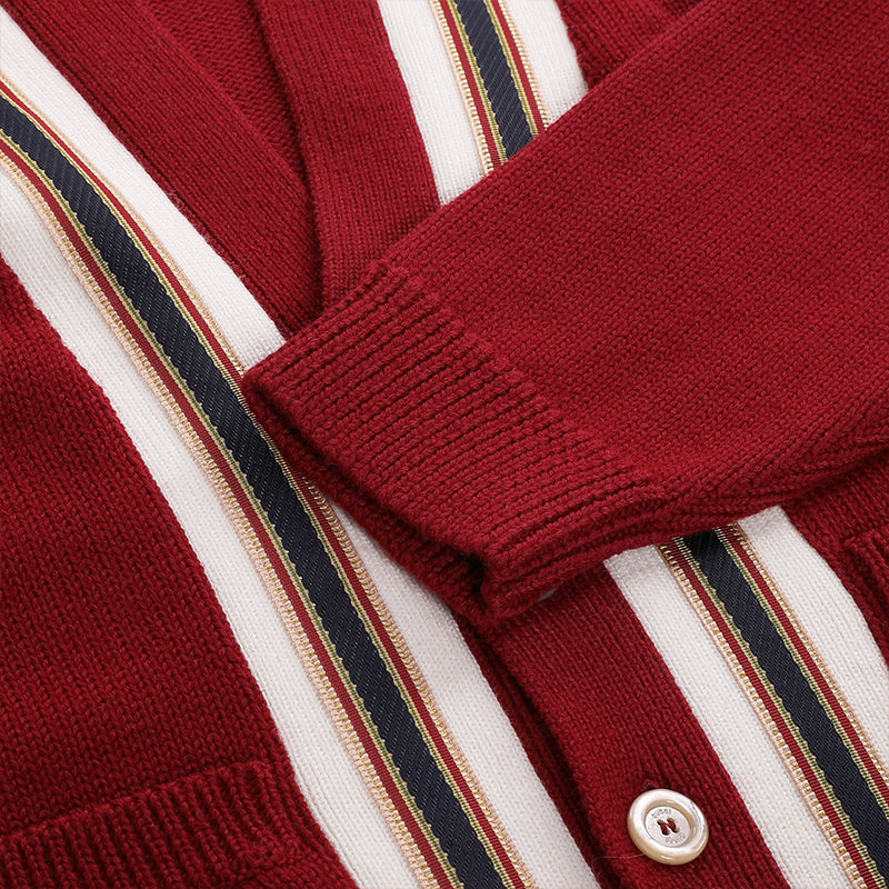 [CLEARANCE] - Wool Cardigan with Anchor Crest