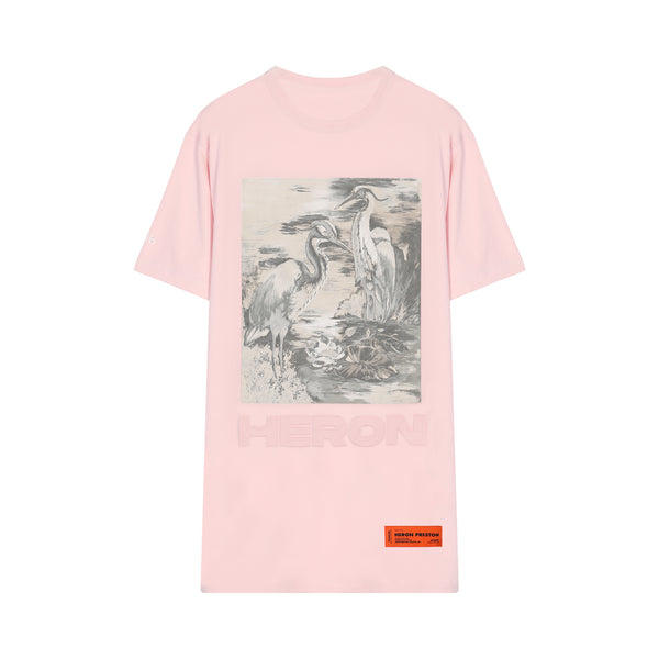 [CLEARANCE] - White Bird Printed T-shirt
