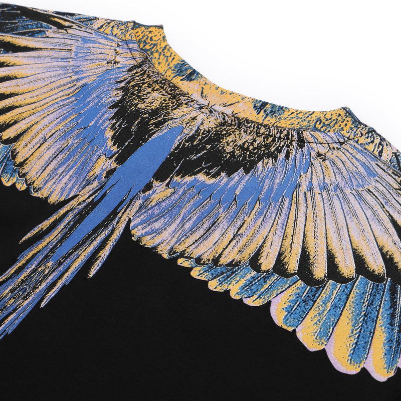 Black & Multicolor Wings T-shirt