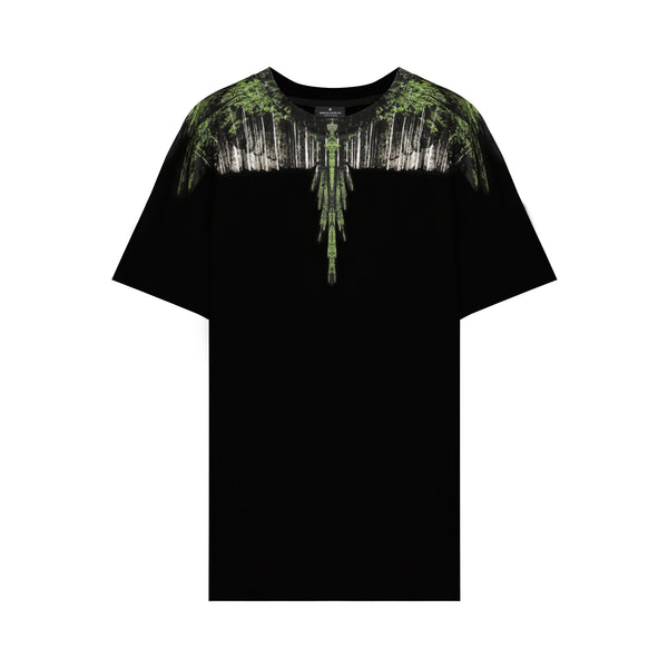 Green Wood Wings Printed T-shirt
