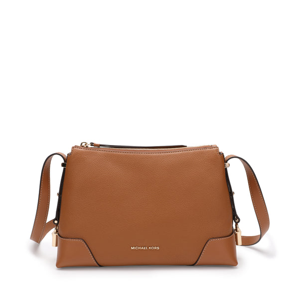 Michael Kors Crosby Medium Pebbled Leather Shoulder Bag