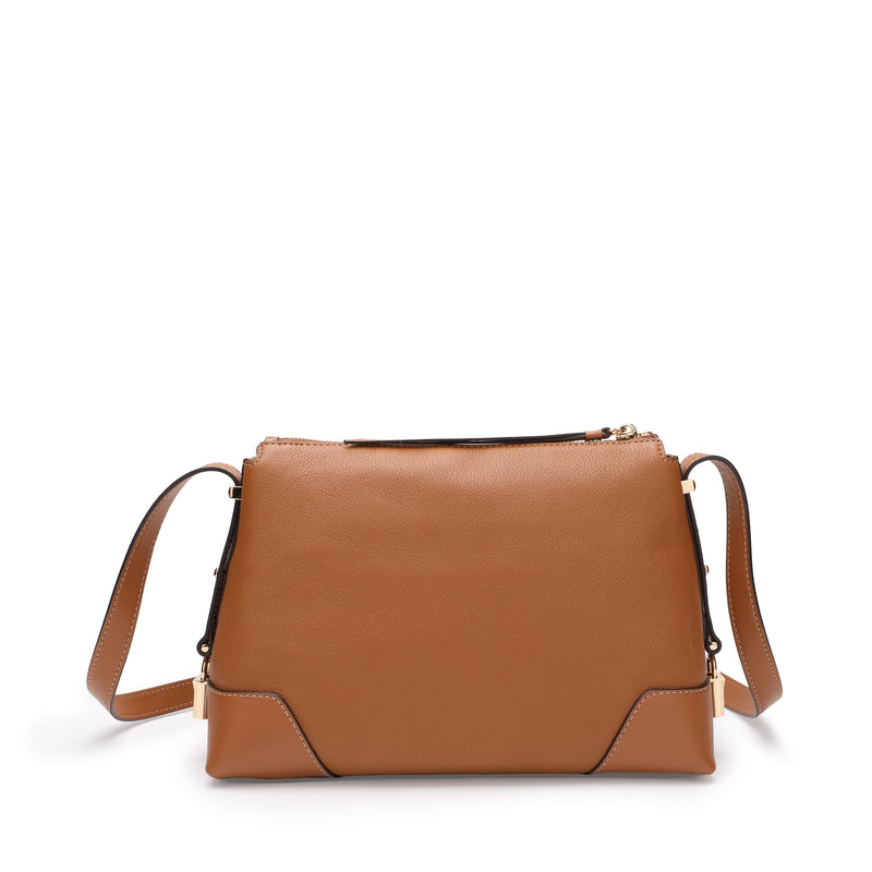 [CLEARANCE] - Crosby Medium Pebbled Leather Messenger Bag
