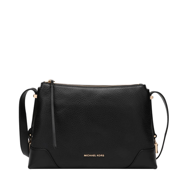 Michael Kors Crosby Medium Pebbled Leather Messenger