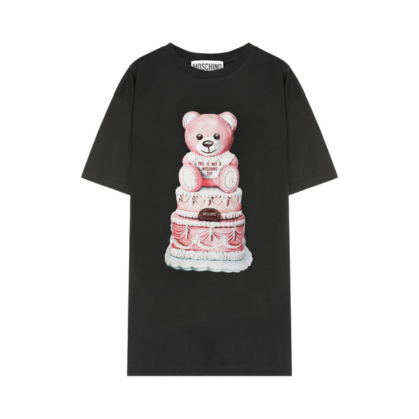 Cake Teddy Bear Print T-shirt