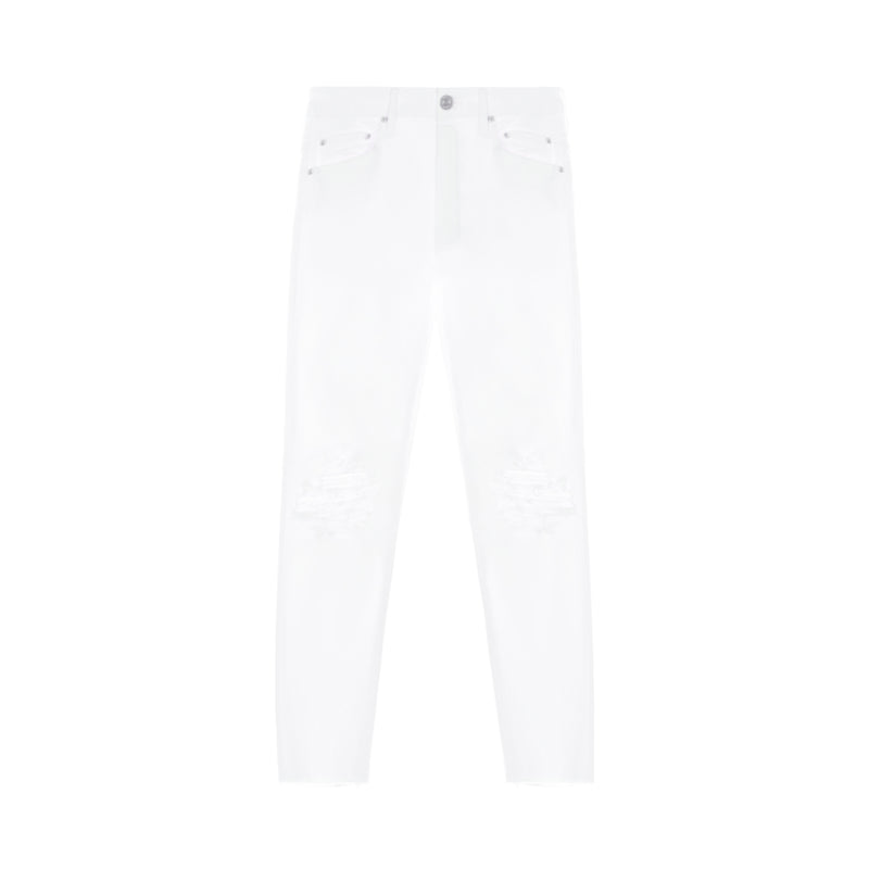 Mother Lace Knee Skinny Jeans