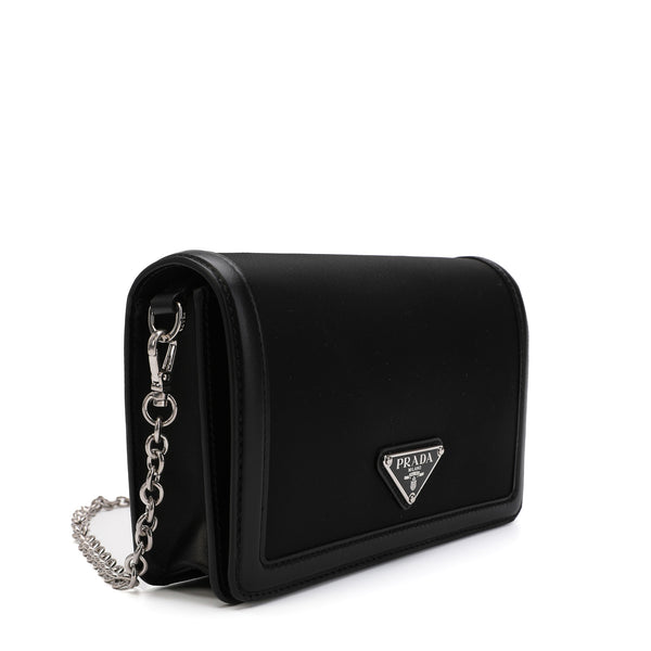 Logo Plaque Foldover Shoulder Bag