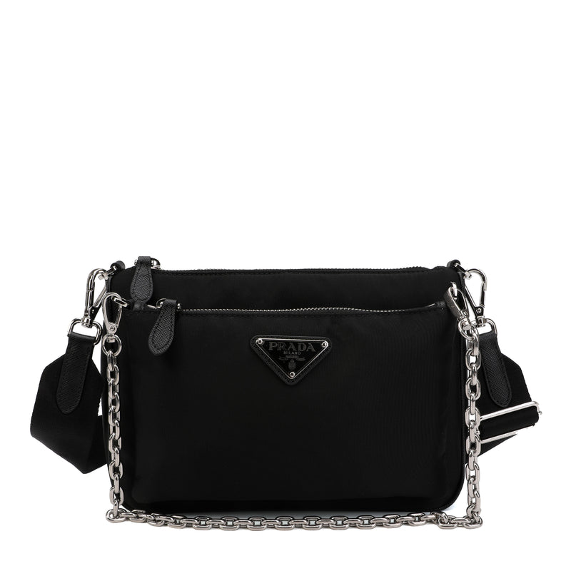 Nylon Chain Link Shoulder Bag